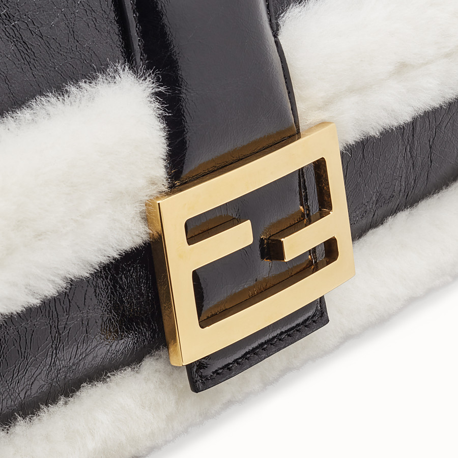 FENDI BAGUETTE LARGE - Black leather bag - view 6 detail