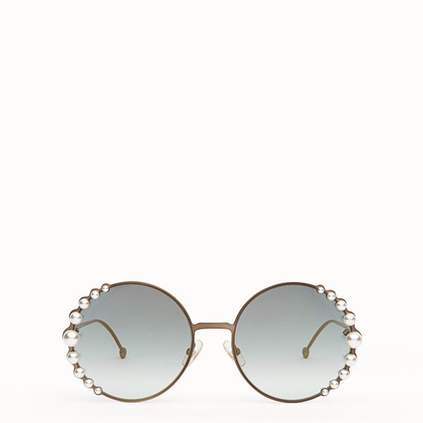FENDI RIBBONS AND PEARLS - Bronze-colour sunglasses - view 1 small thumbnail