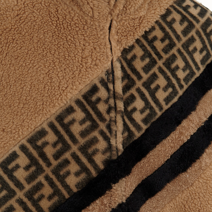 FENDI JACKET - Beige sheepskin jacket - view 3 detail