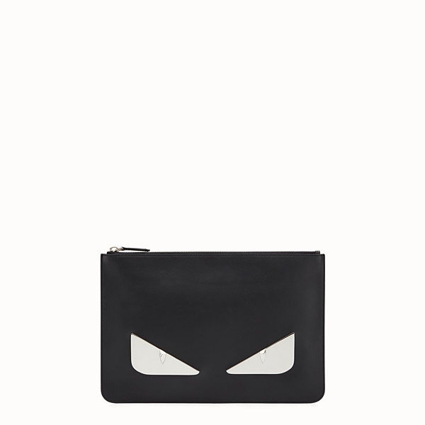FENDI POUCH - in black leather and metal - view 1 small thumbnail