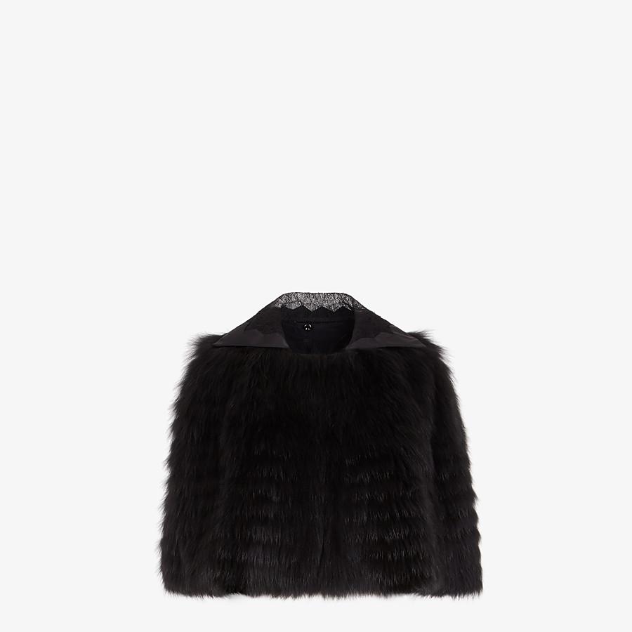 FENDI CAPE - Black fox fur cape - view 1 detail