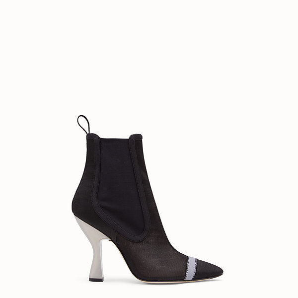 FENDI ANKLE BOOTS - Black mesh booties - view 1 small thumbnail