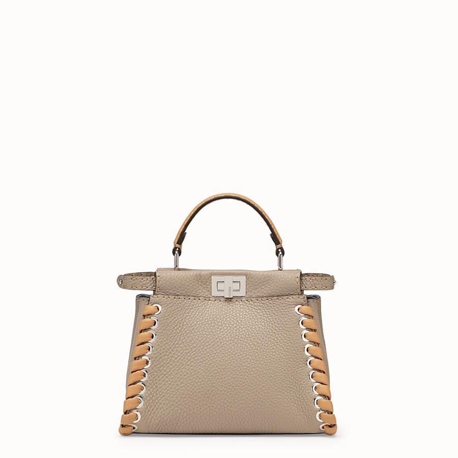 FENDI PEEKABOO ICONIC MINI - Beige leather bag - view 1 detail