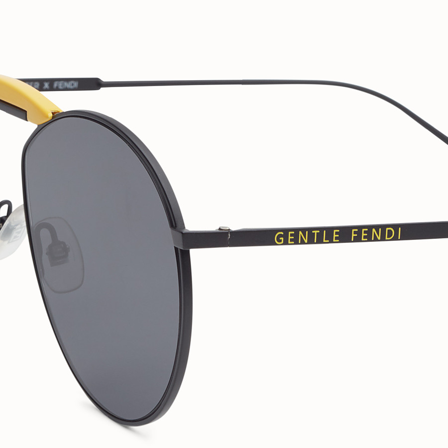 FENDI SUNGLASSES - Black sunglasses - view 3 detail