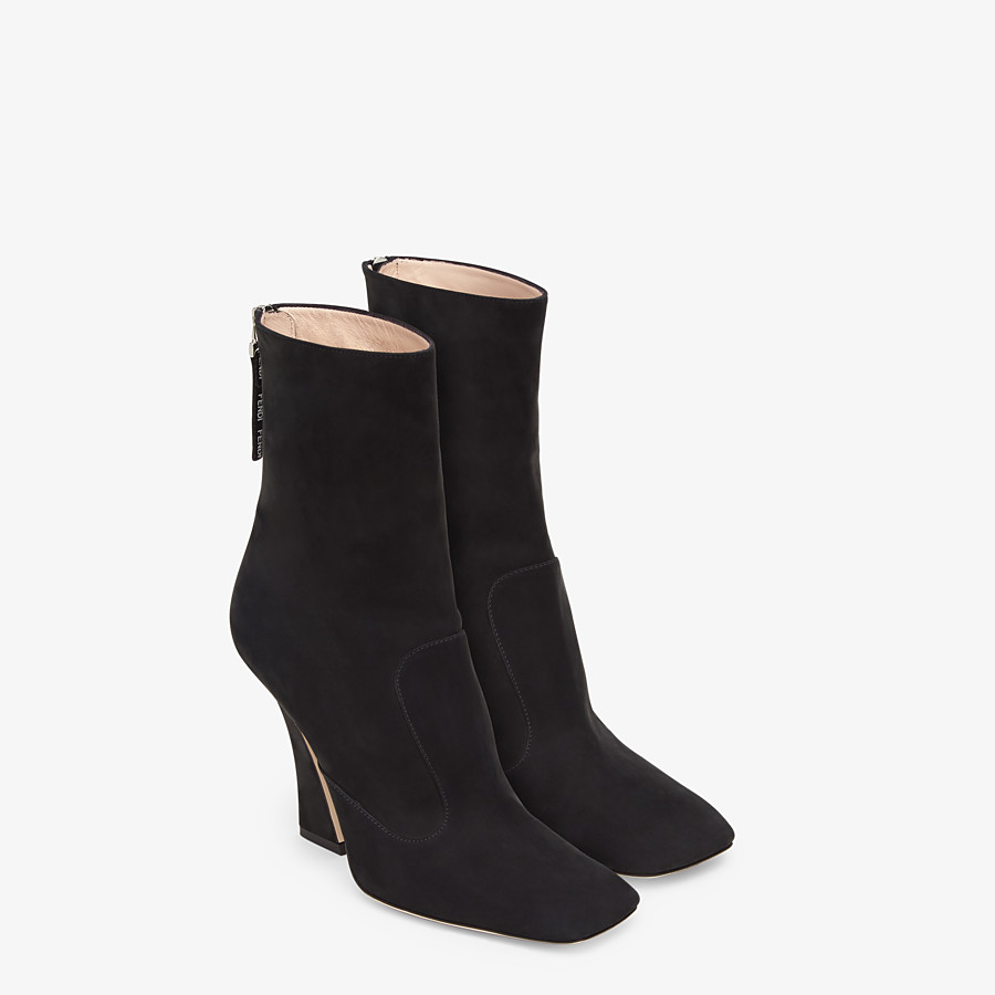 FENDI ANKLE BOOTS - Black nubuck booties - view 4 detail