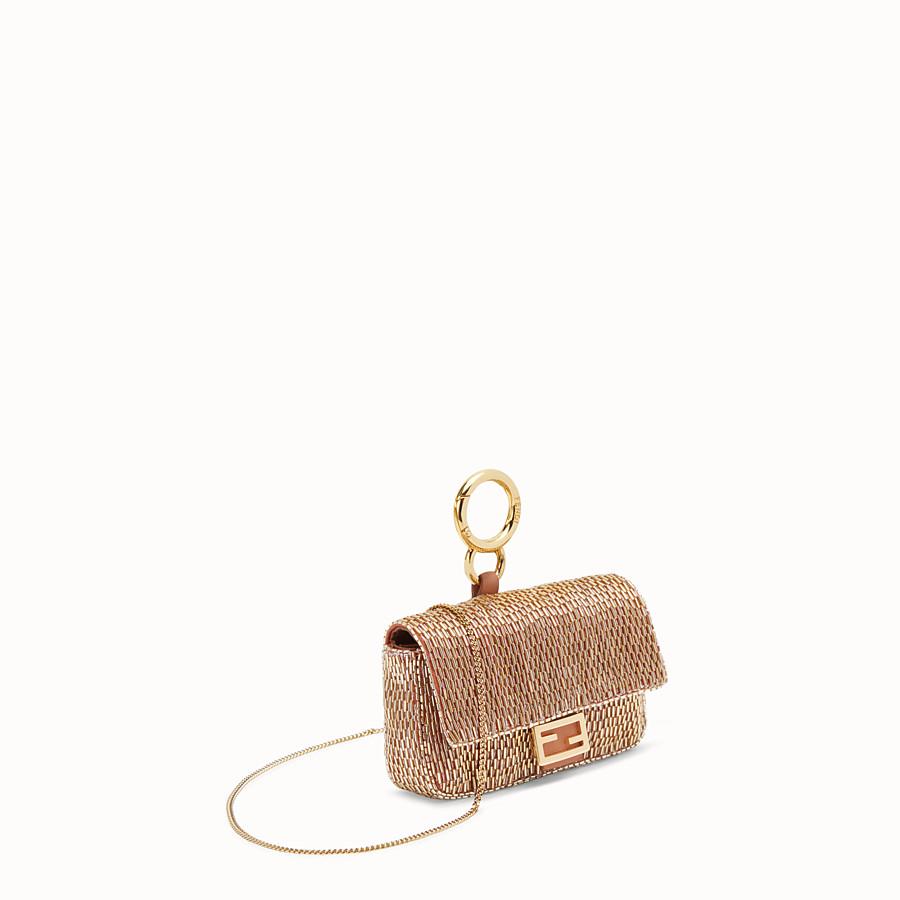 FENDI NANO BAGUETTE - Brown leather charm - view 2 detail