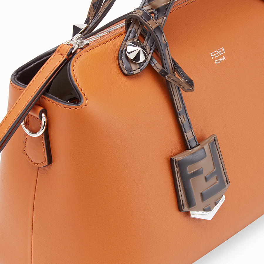 FENDI BY THE WAY MEDIUM - Brown leather Boston bag - view 6 detail