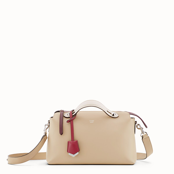 FENDI BY THE WAY REGULAR - Beige leather Boston bag - view 1 small thumbnail