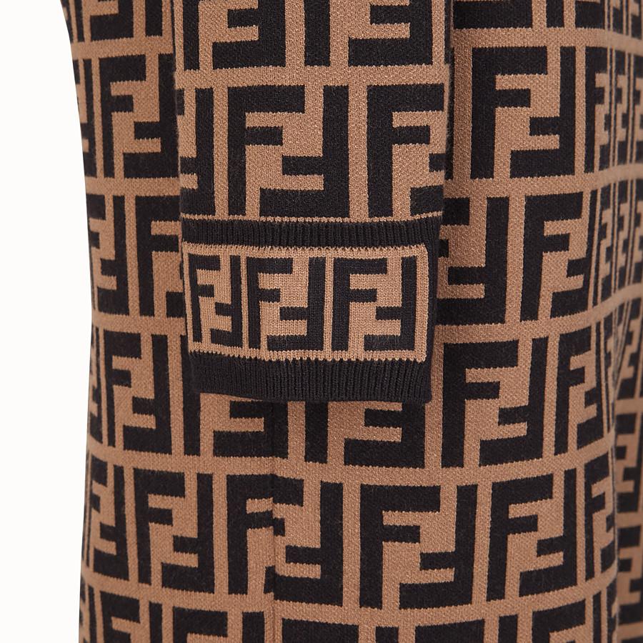 FENDI DRESS - Multicolour fabric dress - view 3 detail