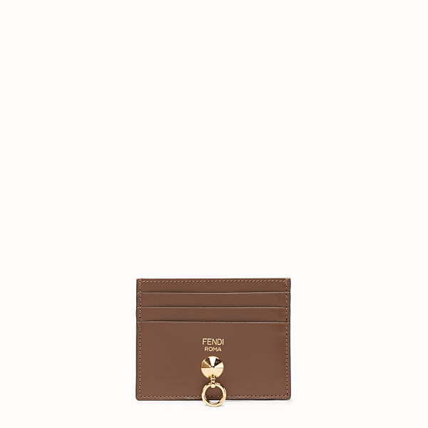 FENDI CARD HOLDER - Brown leather flat business card holder - view 1 small thumbnail