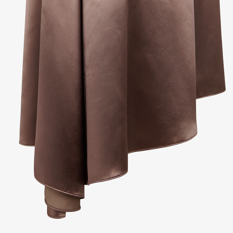 FENDI SKIRT - Brown satin skirt - view 3 detail