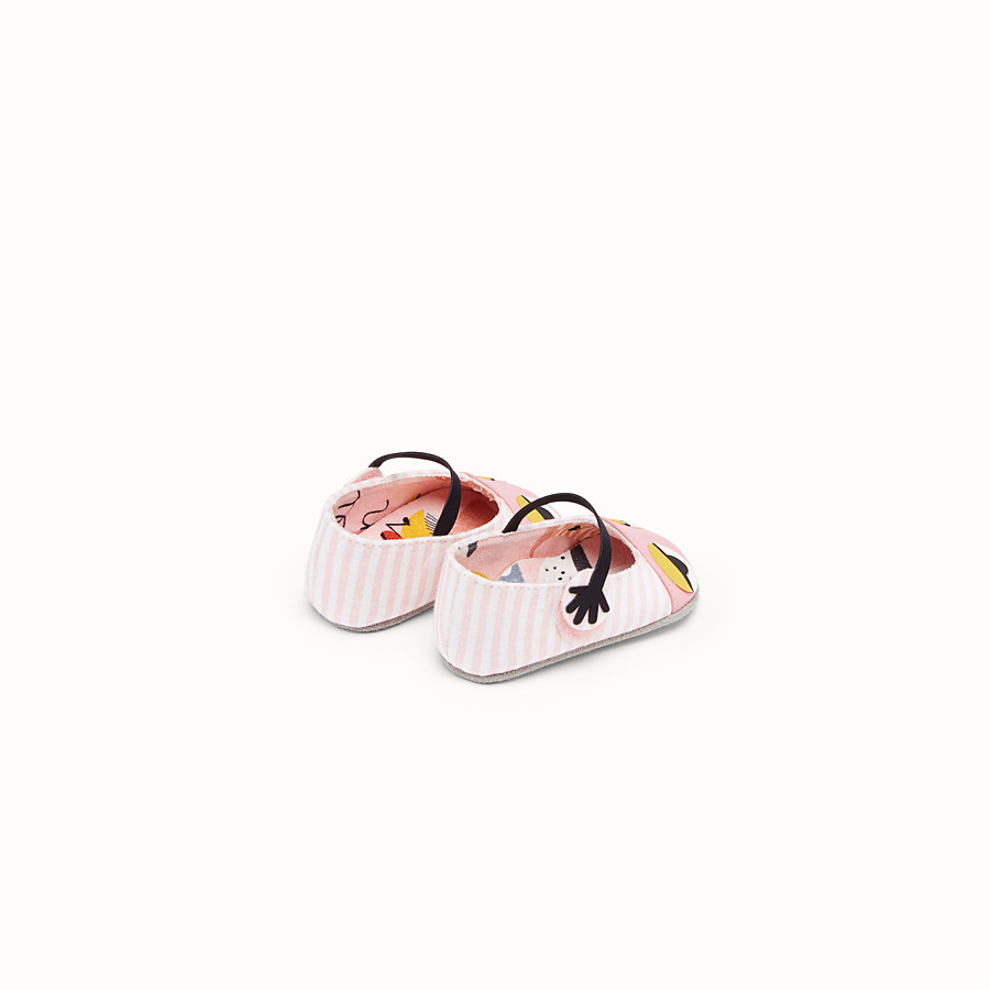 FENDI MUSHROOM FLAT SHOES - Jersey flat shoes with all-over print - view 2 detail