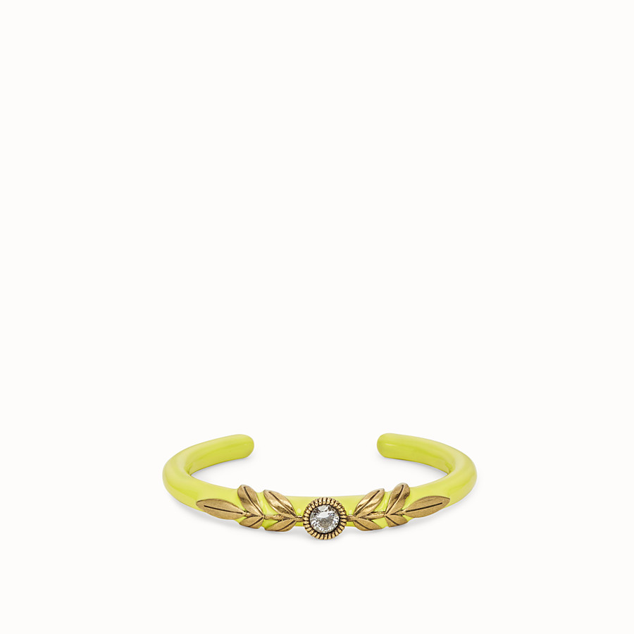 FENDI JULIUS CAESAR BRACELET - Gold and yellow bracelet - view 1 detail
