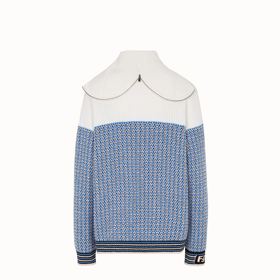 FENDI PULLOVER - Micro-check wool jumper - view 2 detail