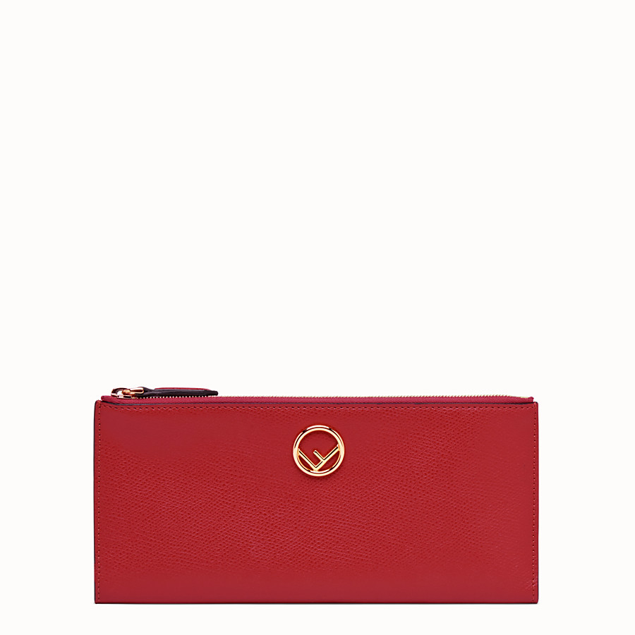FENDI BIFOLD - Red leather wallet - view 1 detail