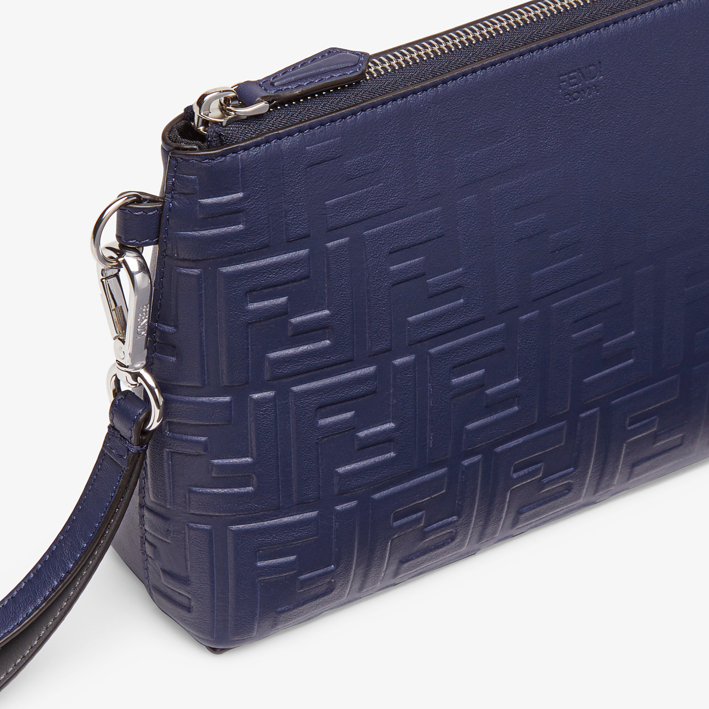 FENDI POUCH - Blue calf leather pochette - view 4 detail