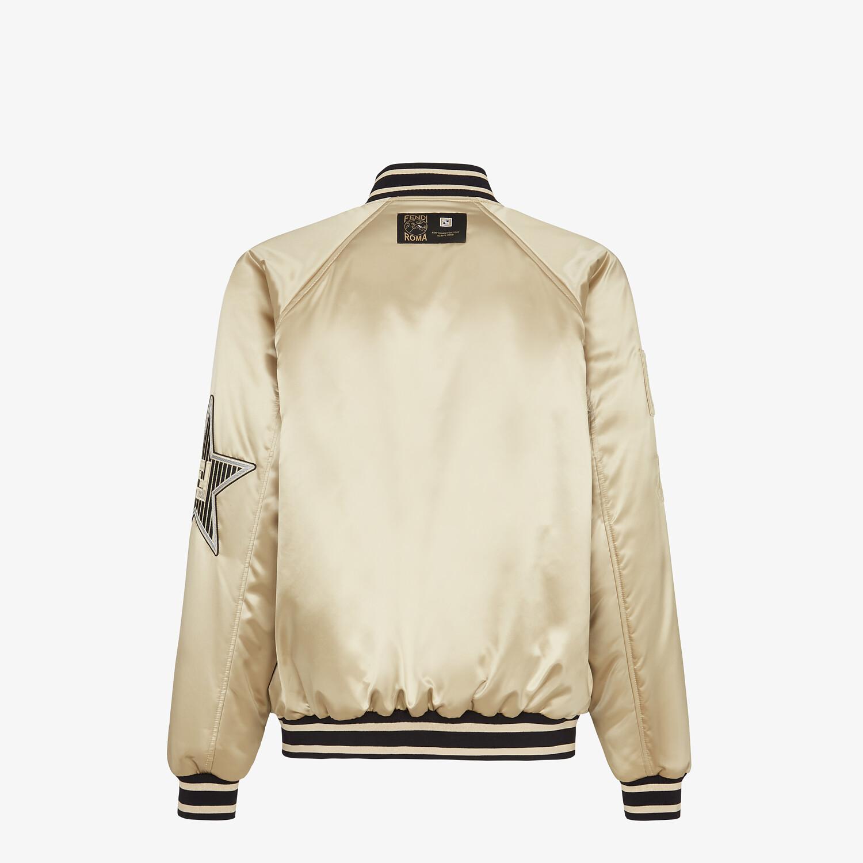 FENDI BOMBER JACKET - Champagne satin jacket - view 2 detail
