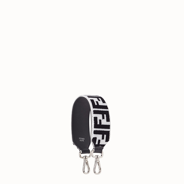 FENDI MINI STRAP YOU - Leather and fabric shoulder strap - view 1 small thumbnail