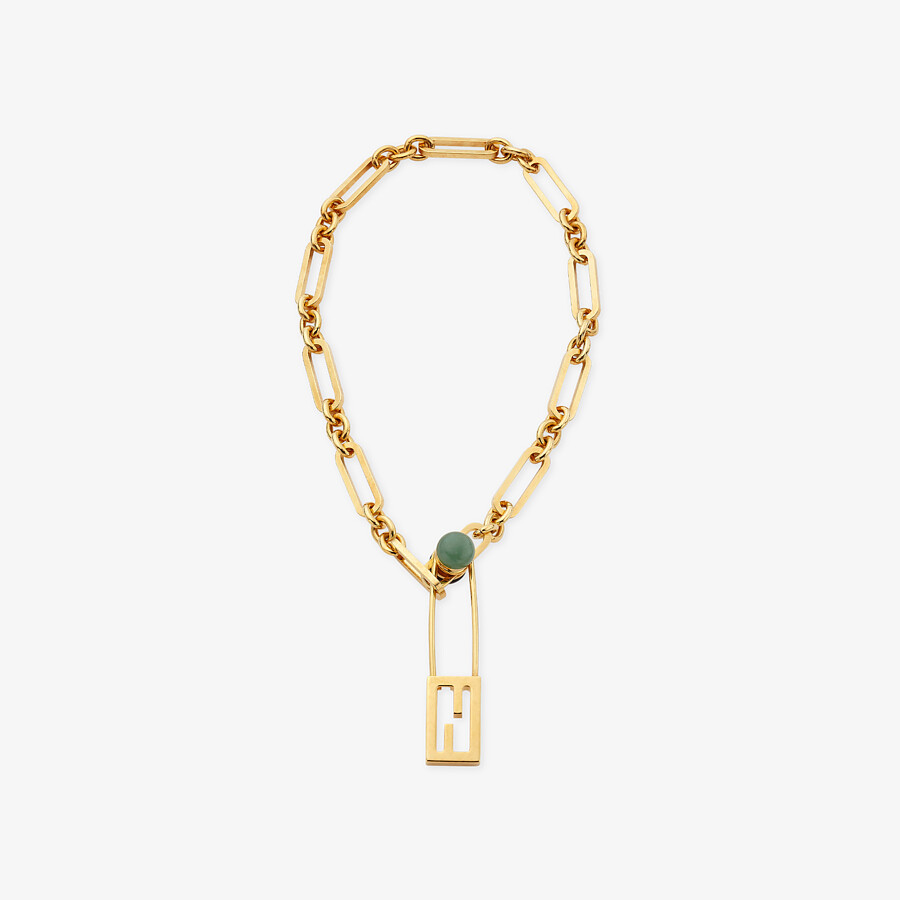 FENDI BAGUETTE NECKLACE - Gold-colored necklace - view 1 detail