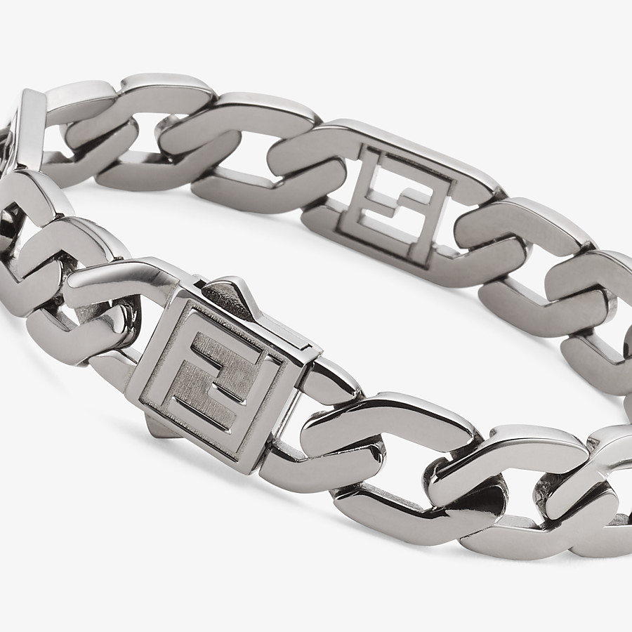 FENDI BRACELET - Ruthenium-color bracelet - view 2 detail