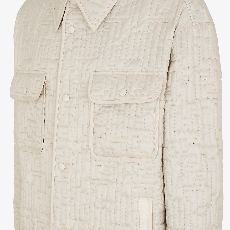 FENDI BLOUSON JACKET - White nylon jacket - view 3 detail