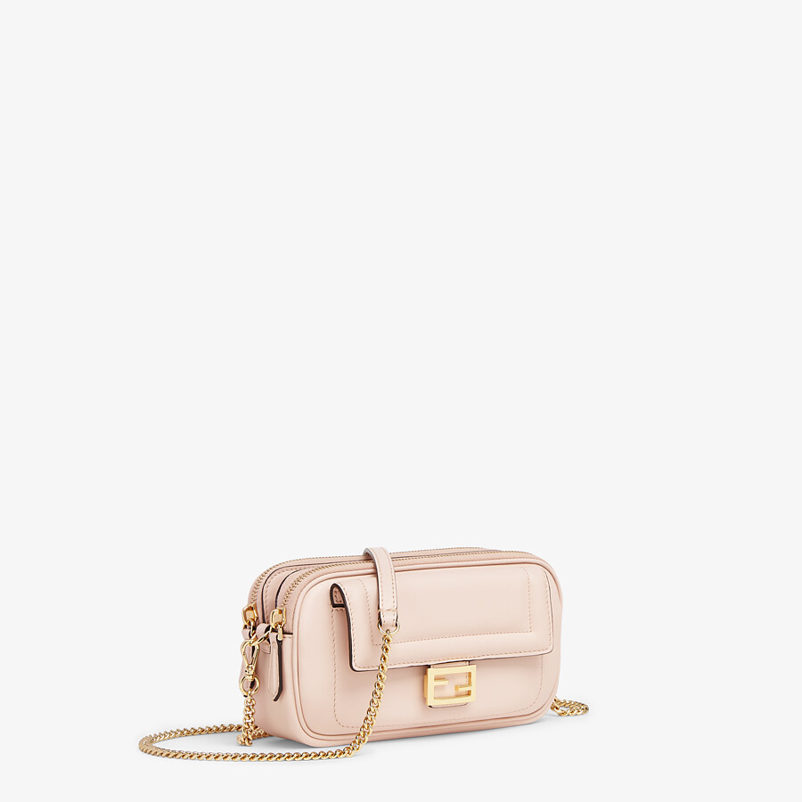 FENDI EASY 2 BAGUETTE - Pink leather mini-bag - view 2 detail