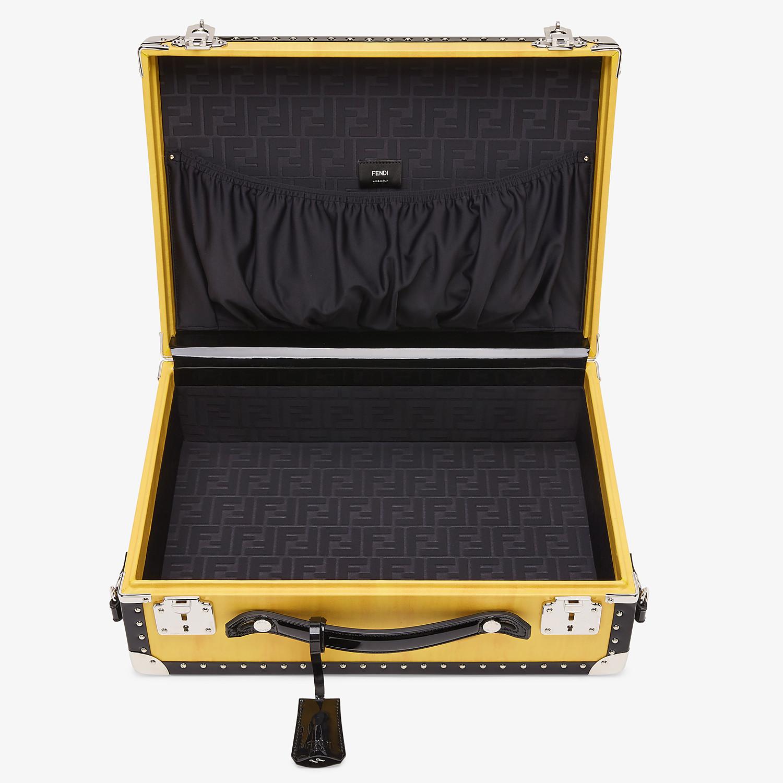 FENDI TRAVEL BAG - Yellow leather suitcase - view 4 detail