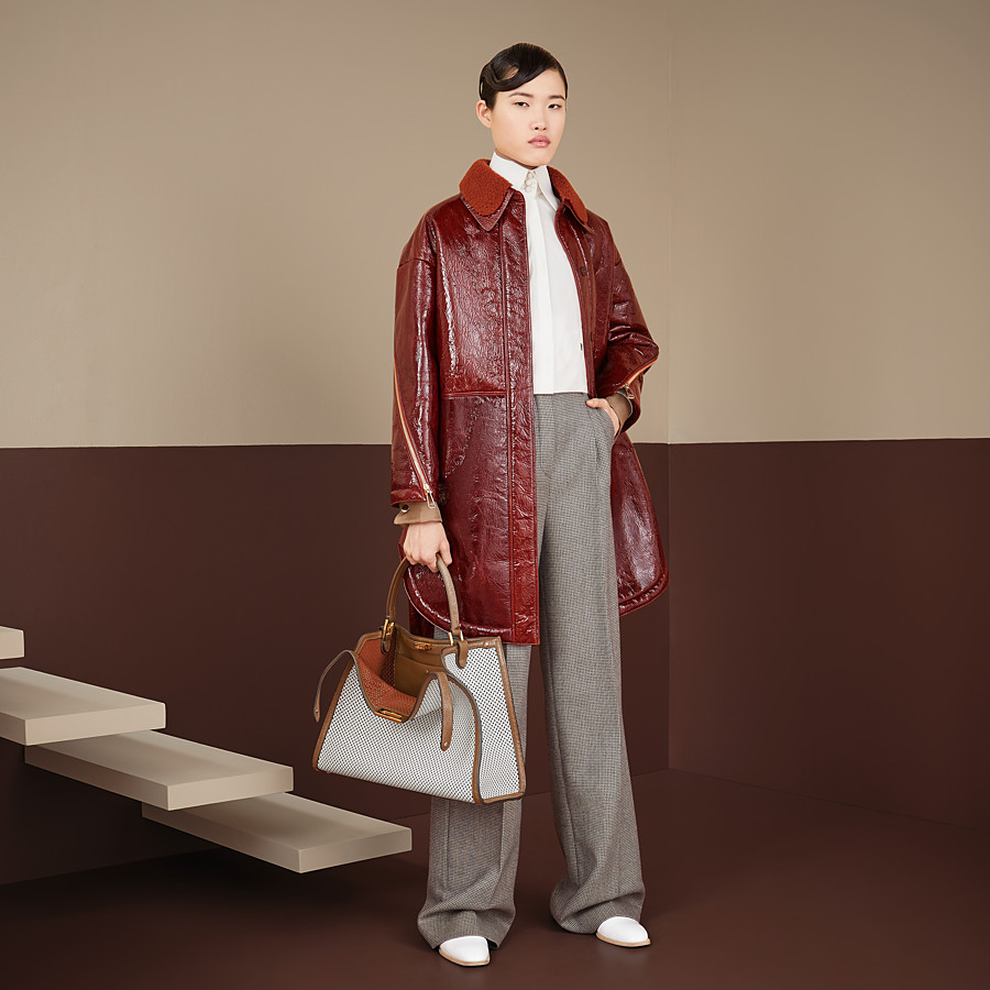FENDI TROUSERS - Brown wool trousers - view 4 detail