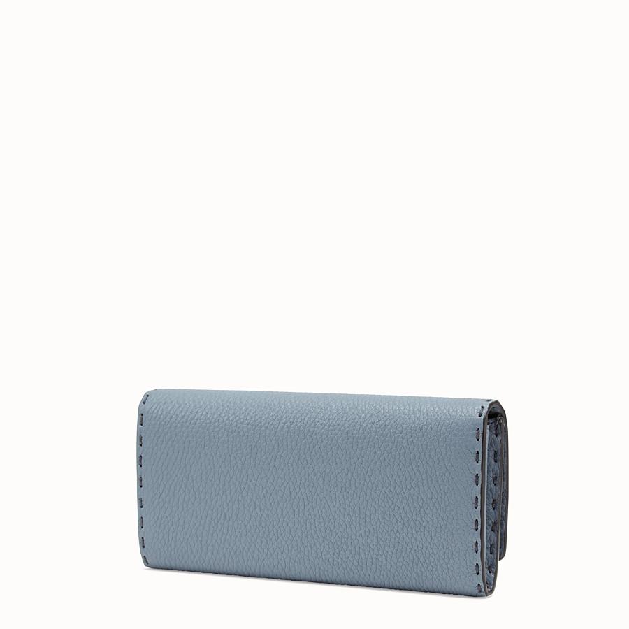 FENDI CONTINENTAL - Pale blue leather wallet - view 2 detail