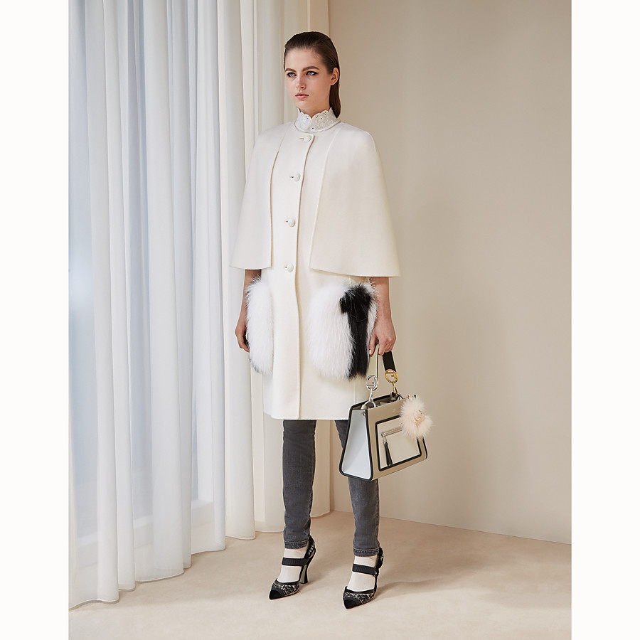 FENDI COAT - White wool coat - view 4 detail