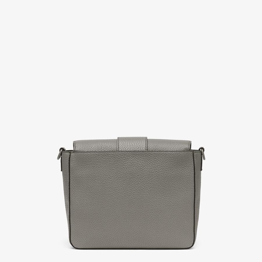 FENDI BAGUETTE MESSENGER BAG MEDIUM - Light gray leather bag - view 3 detail