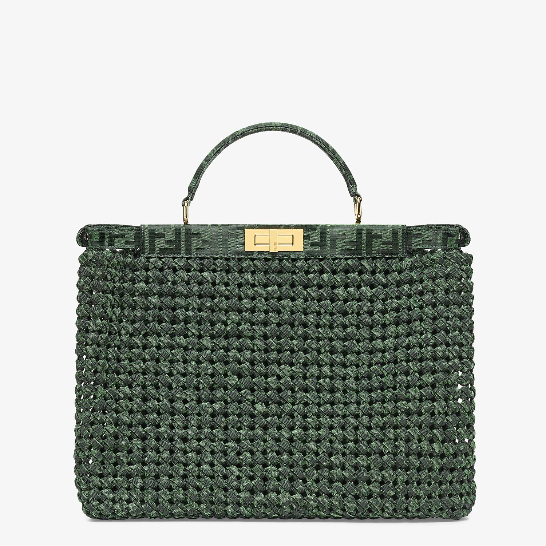 FENDI PEEKABOO ICONIC LARGE - Jacquard fabric interlace bag - view 4 detail