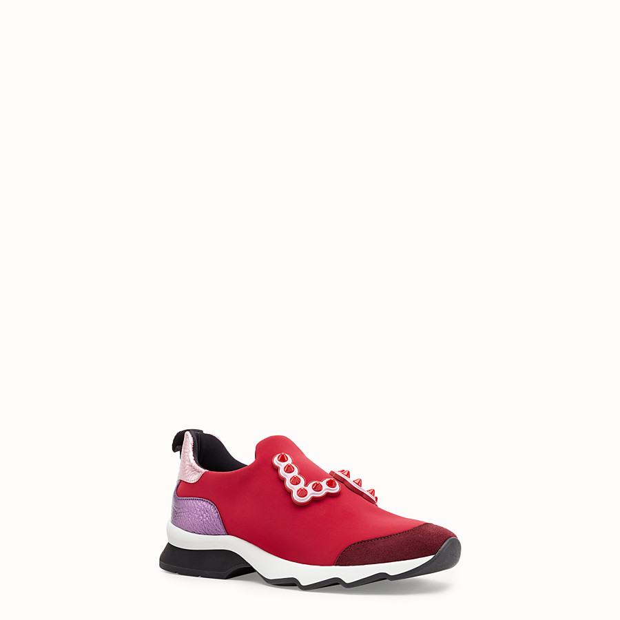 FENDI SNEAKERS - Sneakers in red technical fabric - view 2 detail