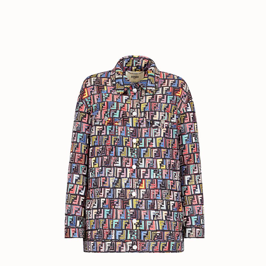 FENDI JACKE - Jacke aus mehrfarbigem Jacquard - view 1 detail