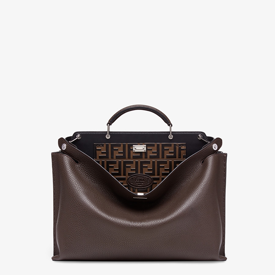 FENDI PEEKABOO ICONIC ESSENTIAL - Brown calfskin bag - view 1 detail