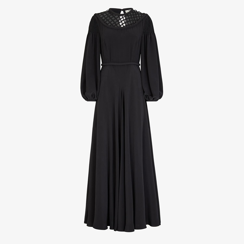 FENDI DRESS - Black crêpe de chine dress - view 1 detail