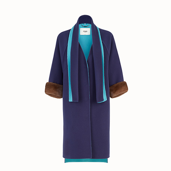 FENDI CAPPOTTO - Cappotto in cashmere multicolor - vista 1 thumbnail piccola