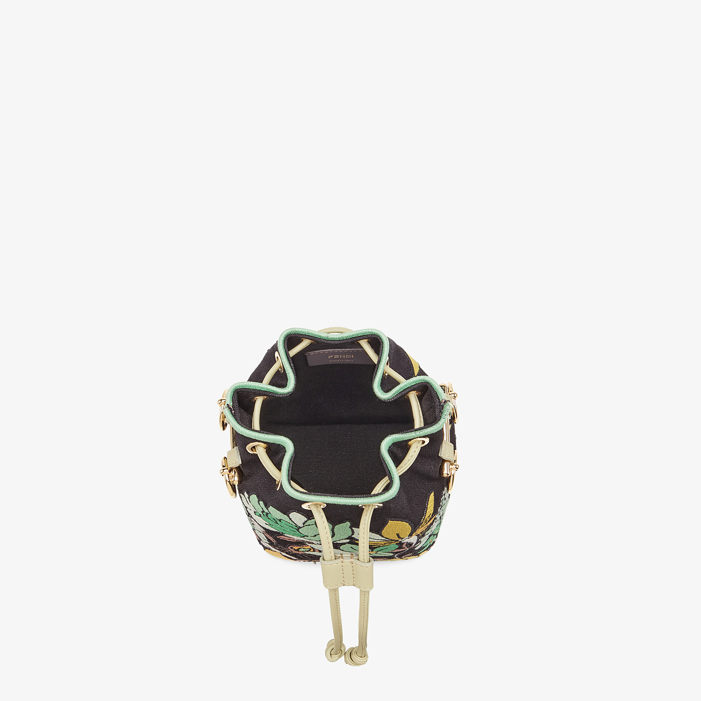 FENDI MON TRESOR - Black canvas mini bag - view 4 detail