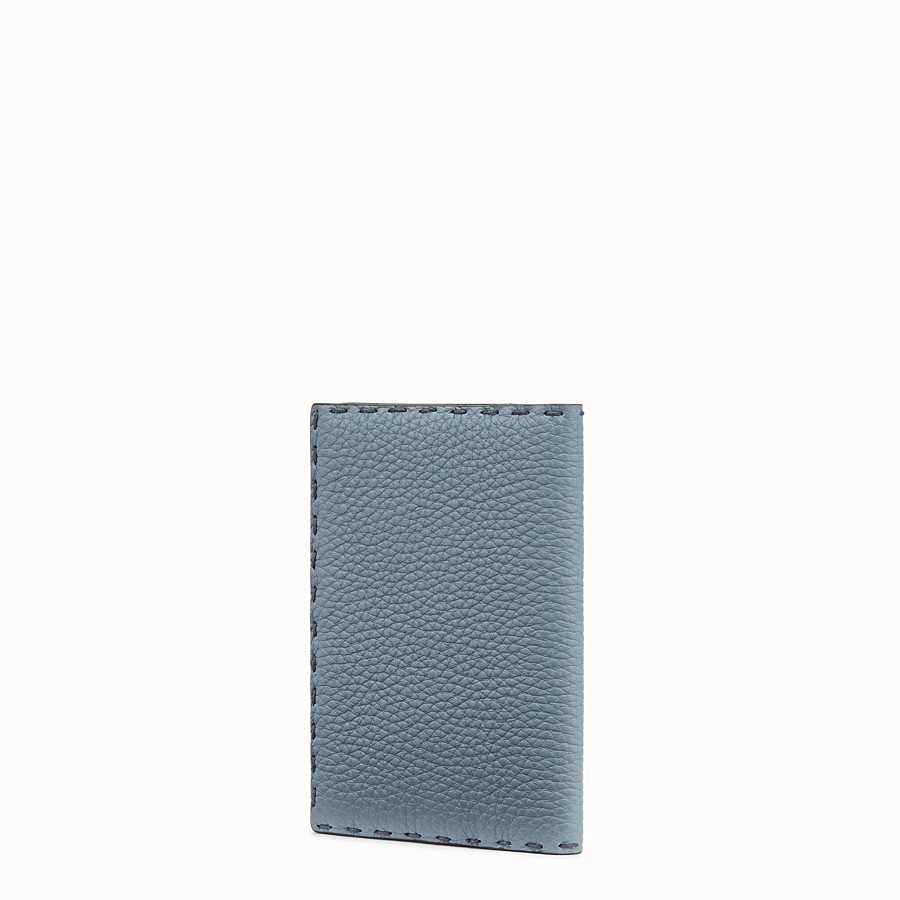 FENDI PASSPORT COVER - Pale blue leather passport cover - view 2 detail
