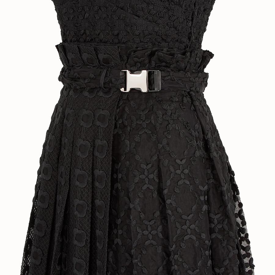 FENDI ドレス - ブラックオーガンザ ドレス - view 3 detail
