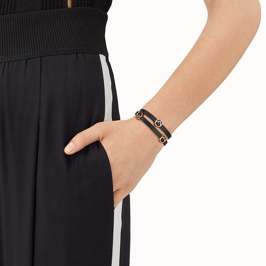 FENDI F IS FENDI BRACELET - Black choker-bracelet - view 2 detail