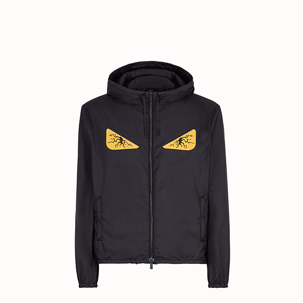 FENDI WINDBREAKER - Windbreaker in black nylon - view 1 small thumbnail