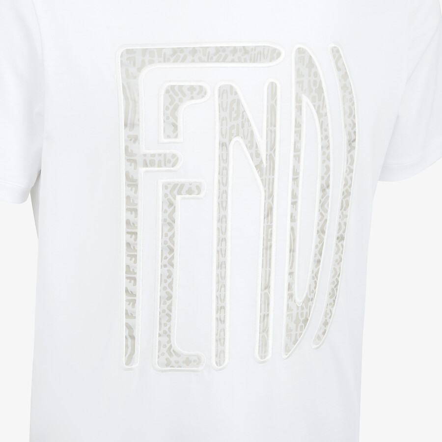 FENDI T-SHIRT - Fendi X Anrealage cotton T-shirt - view 4 detail