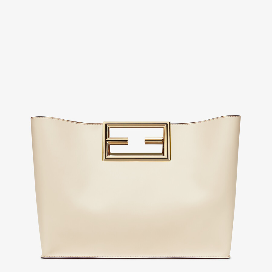 FENDI FENDI WAY MEDIUM - White leather bag - view 3 detail