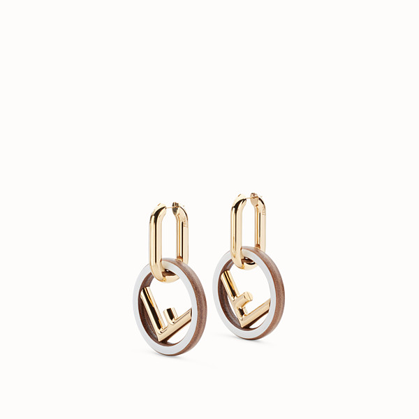 FENDI F IS FENDI EARRINGS - White earrings - view 1 small thumbnail