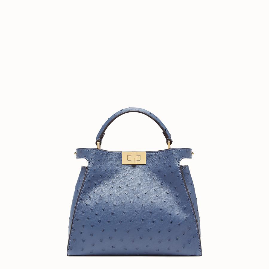 FENDI PEEKABOO ICONIC ESSENTIALLY - Tasche aus Straußenleder in Blau - view 1 detail