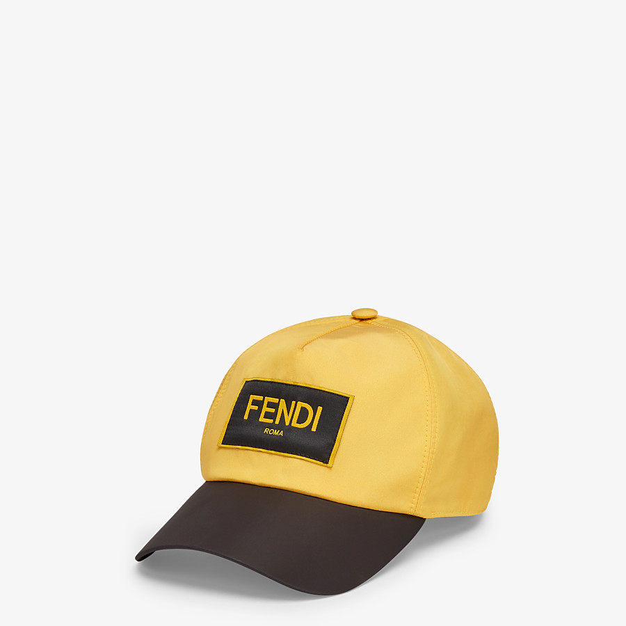 FENDI HAT - Yellow nylon baseball cap - view 1 detail