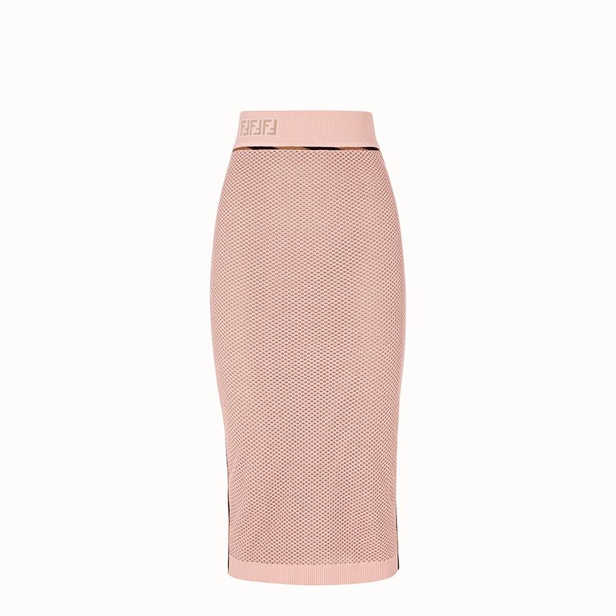 FENDI SKIRT - Pink mesh skirt - view 1 detail