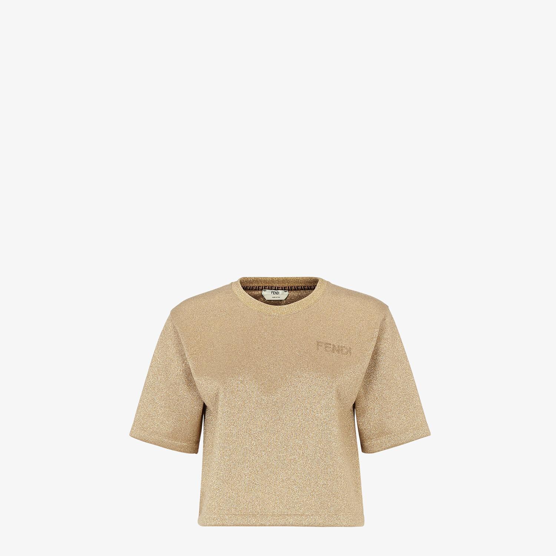 FENDI T-SHIRT - Gold Lurex T-shirt - view 1 detail
