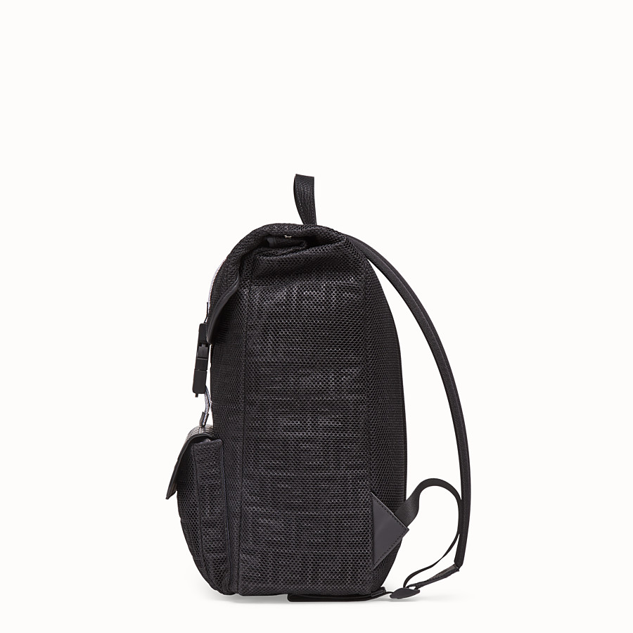 FENDI BACKPACK - Black mesh backpack - view 2 detail